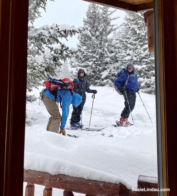 AT skiing at Francie's Cabin