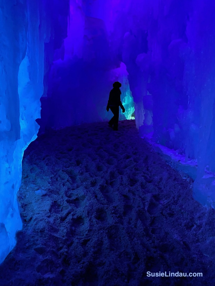 Blue otherworldly Ice Castle