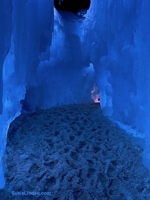Blue Otherworldly Ice Castle in Silverthorne Colorado