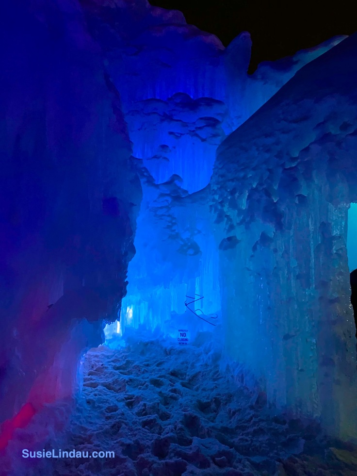 Ice Castles 1 - walking into a glowing blue room