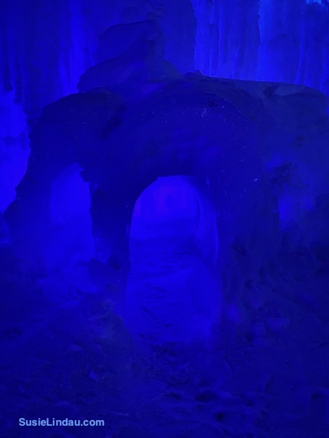 Ice Castles 11 a Small room with arches to crawl through