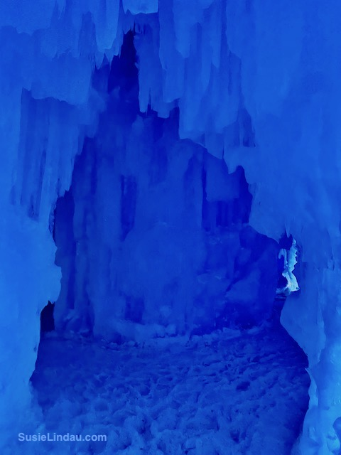 Ice Castles 15 Blue passageway with a choice of two ways to go