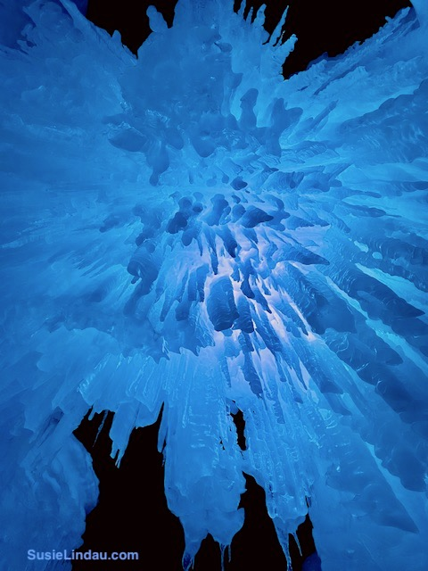 Ice Castles 17 - spikes of ice in blue