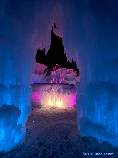 Ice Castles fountain in Dillon