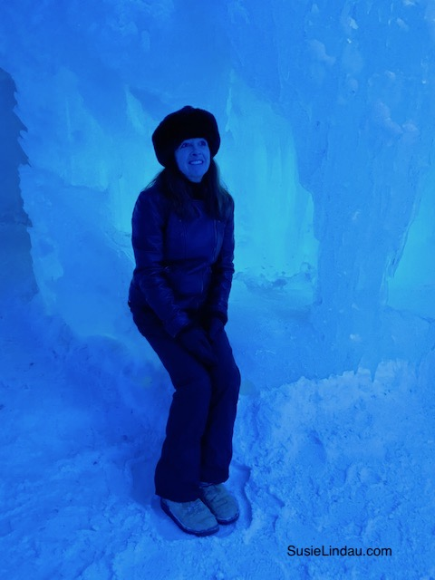Ice Queen in an Ice Castle, Colorado - Susie Lindau in shades of blue