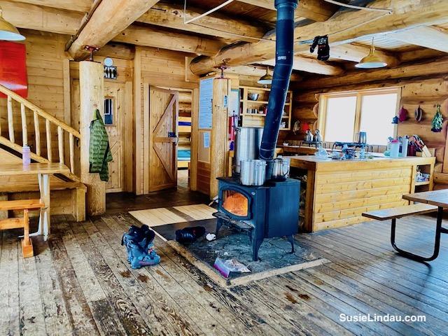 Kitchen inside Francie Cabin in Colorado