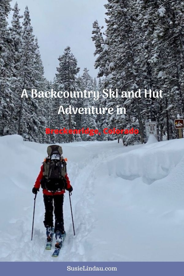 A Backcountry Ski and Hut Adventure in Breckenridge, Colorado - A snow scene with an AT Skier with a backpack