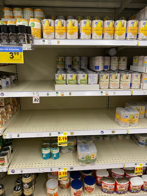 panic shopping coronavirus empty shelves