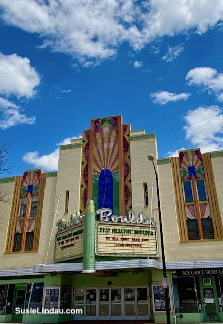 Boulder Theater with marquee - Stay Healthy Boulder We will dance again soon