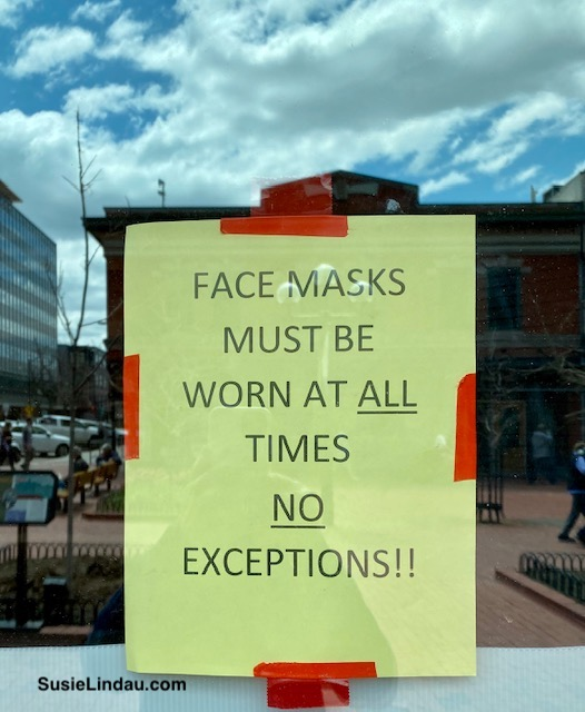 Face masks must be worn at all times no exceptions! Sign in window.