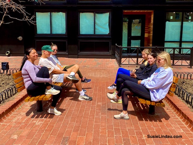 Social distancing on Pearl Street during covid-19