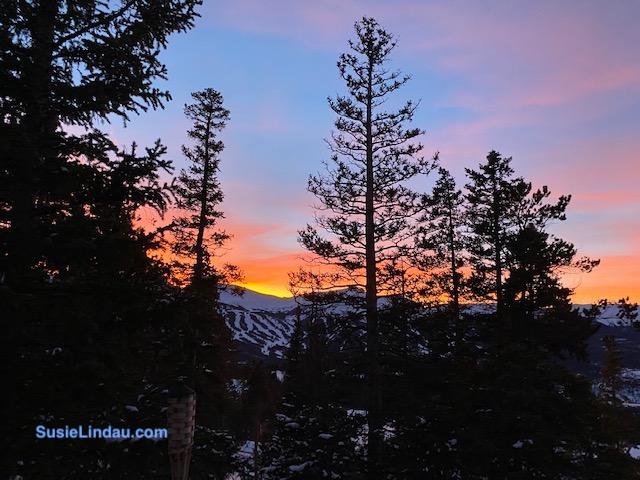 Orange Breckenridge sunset