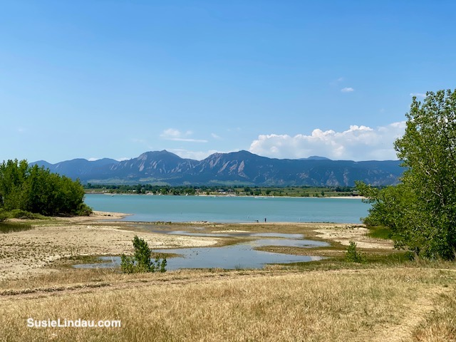 Boulder Flatirons from the Res