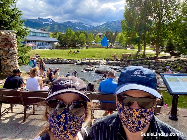 Danny and Susie Riverwalk Center wearing masks.