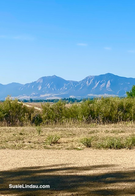 Boulder Flatirons on a clearer day