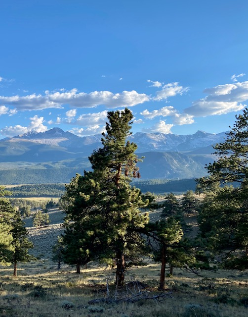 National Park view of Rocky Mountains