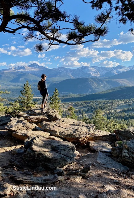 Susie looking over Rocky Mountain National Park