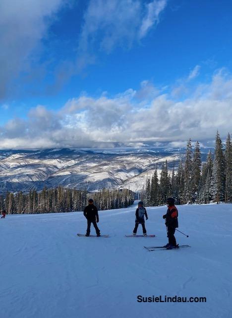 Skiing and boarding Beaver Creek